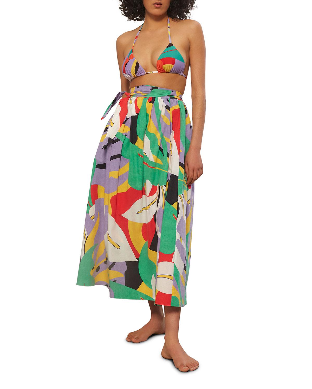 Katrine Midi Coverup Wrap Skirt