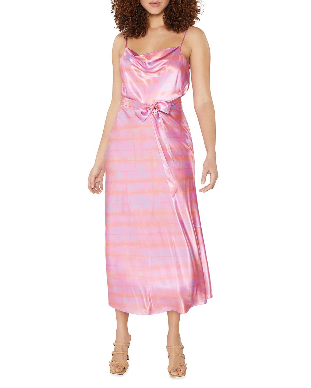 Vittoria Satin Cowl-Neck Dress