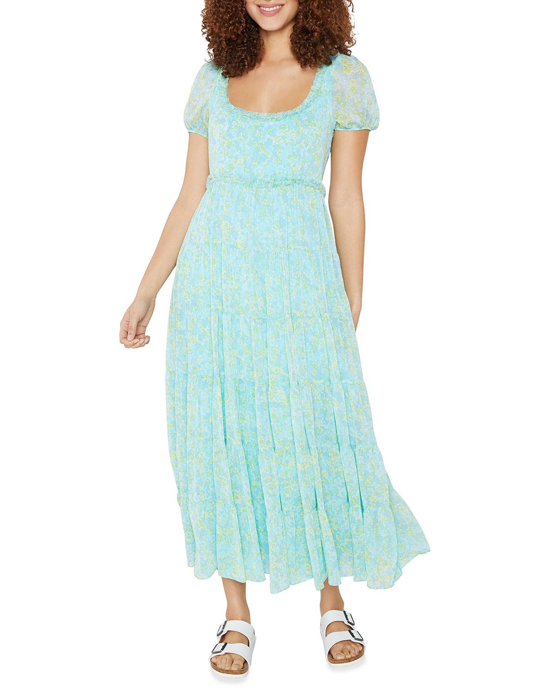Chloe Ditsy Tea-Length Dress
