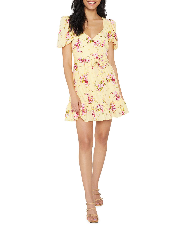 Mini Quinn Floral-Print Dress