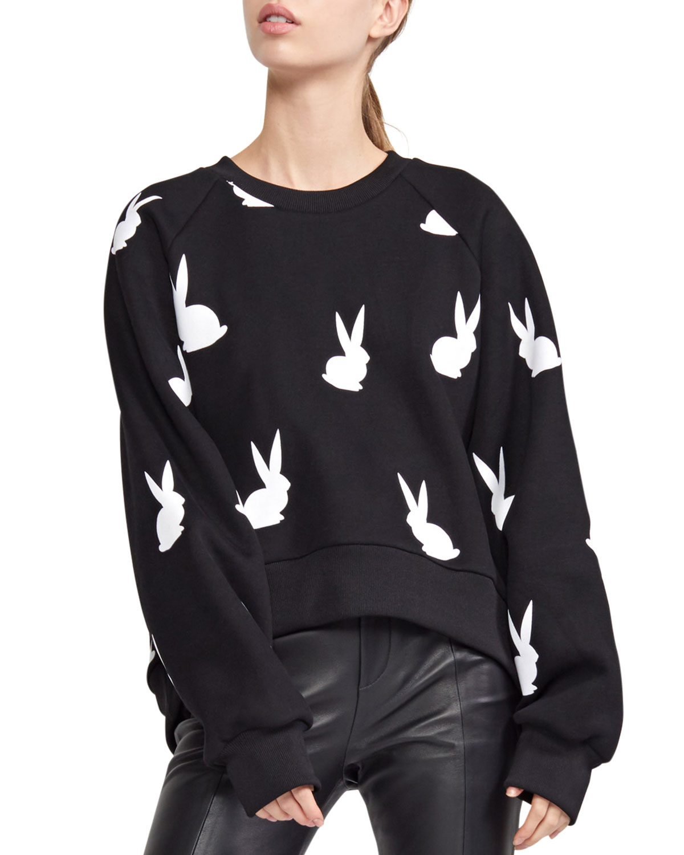 Flynn Flocked Bunny Pullover