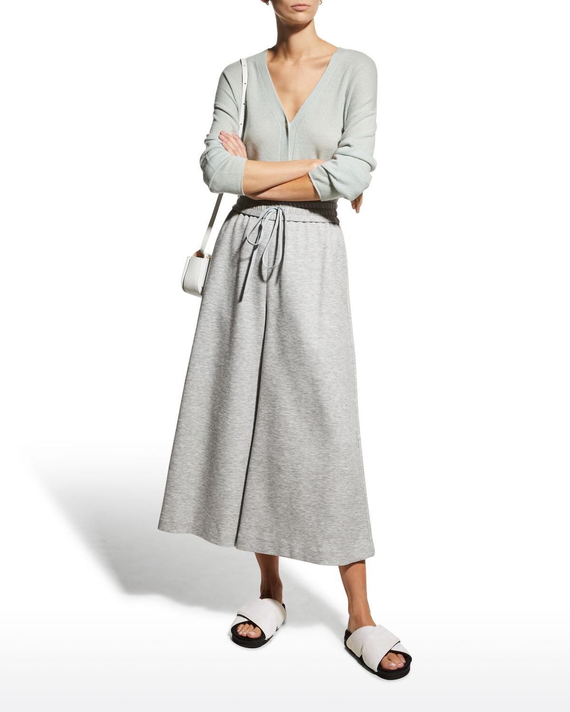 Cashmere Cropped V-Neck Cardigan