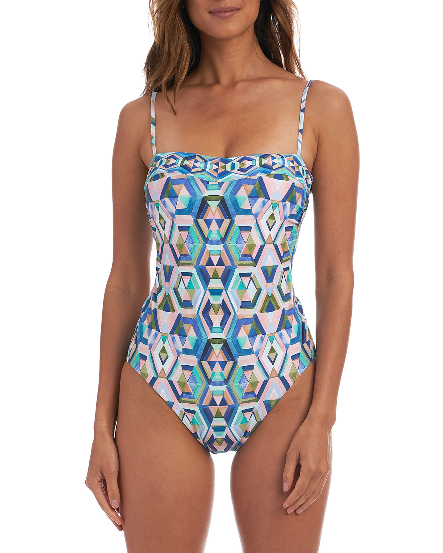 Riviera Reversible Bandeau One-Piece Swimsuit