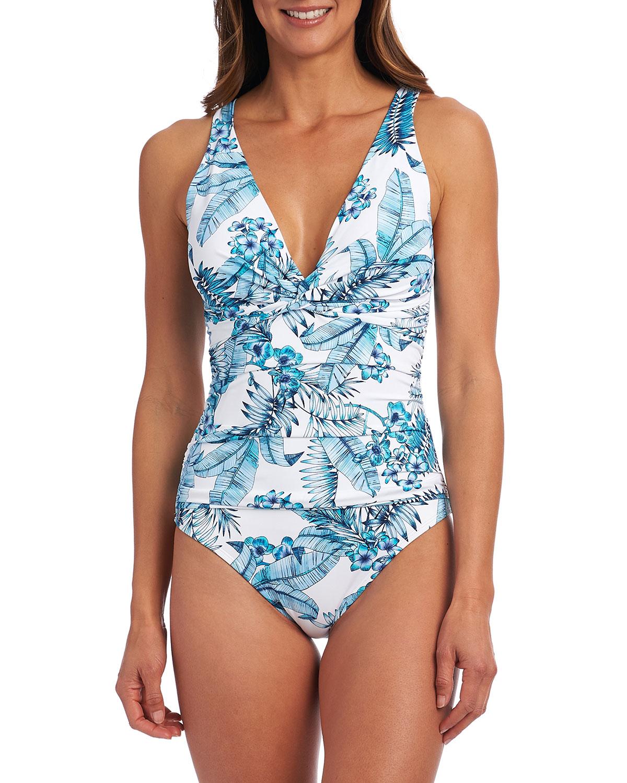 Tranquility Palm Twist One-Piece Swimsuit