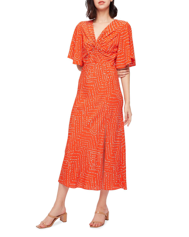 Riley Batik Dot Midi Dress