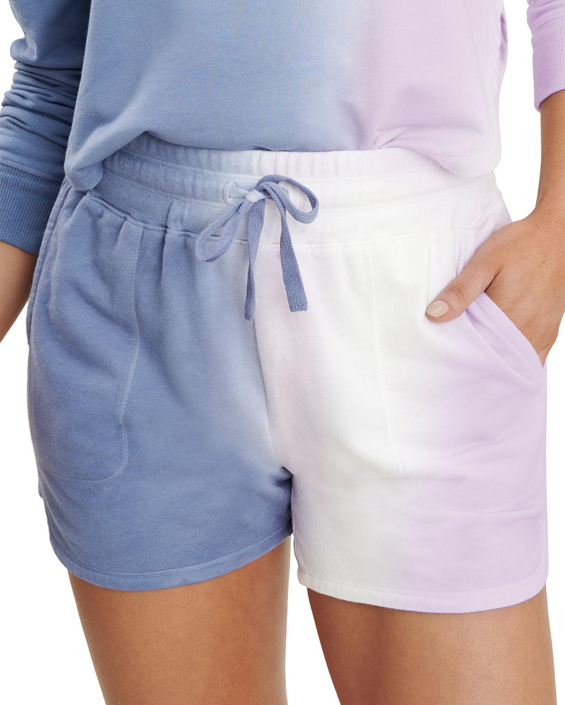 Gradient Spray Dye Drawstring Shorts
