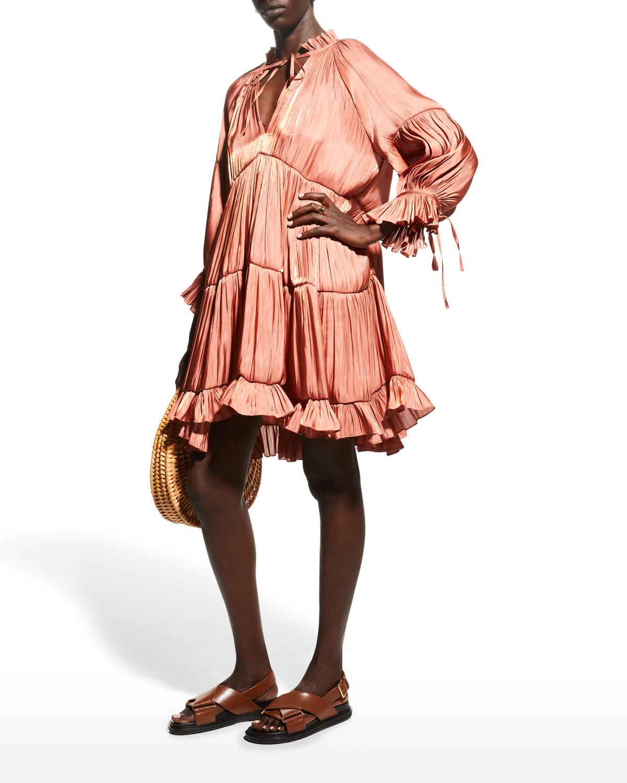 Phyllis Shirred Cocktail Dress