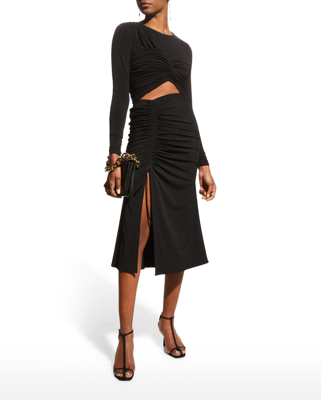 Stella Midi Side-Slit Skirt