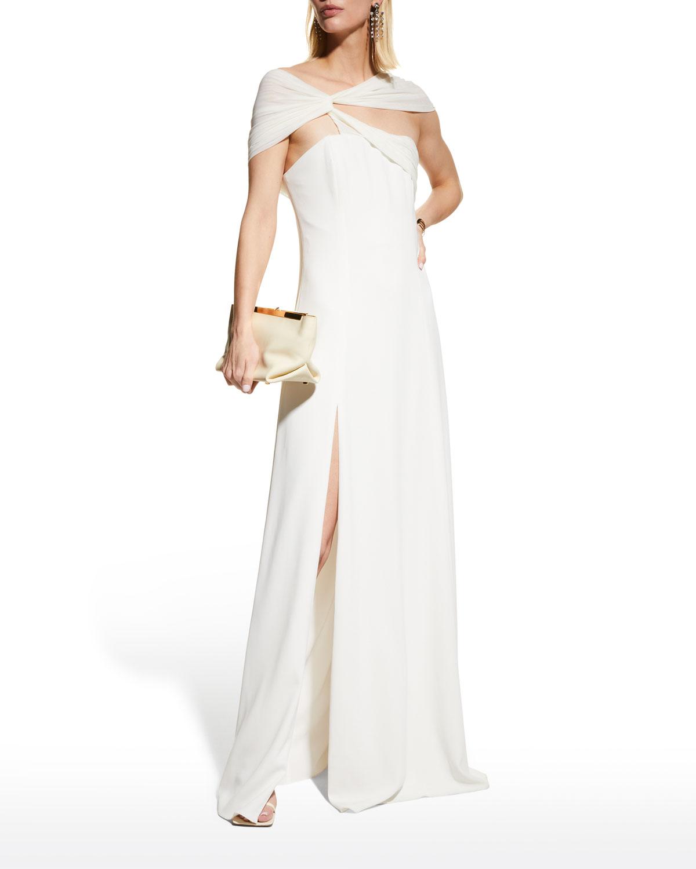 Eden Stretch Crepe Twist Gown