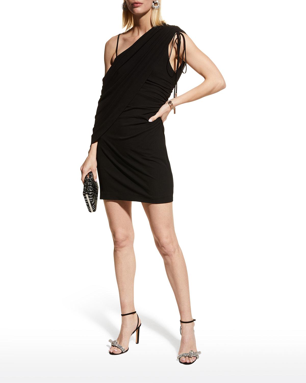 Randi Draped Off-Shoulder Mini Dress