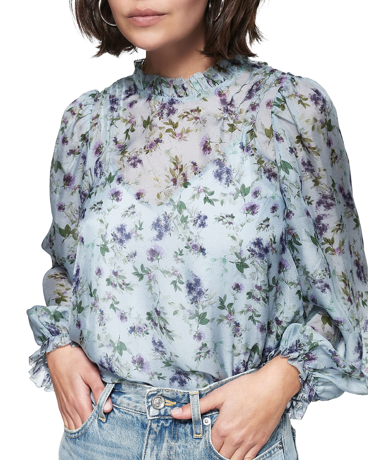 Nelly Floral Chiffon Top