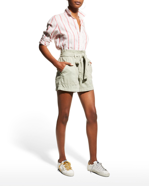 Eileen Woven Striped Button-Up Shirt