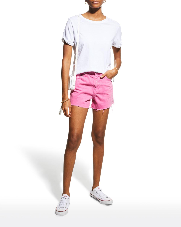 Alexxis Frayed Denim Shorts