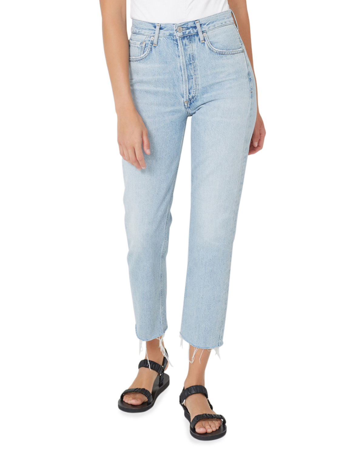 Charlotte High-Rise Straight Crop Jeans