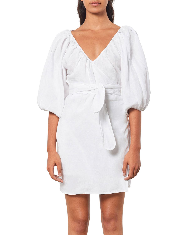 Coletta Mini Coverup Wrap Dress