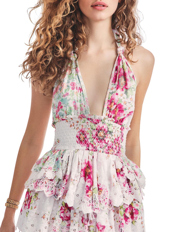 Deanna Mini Halter Dress