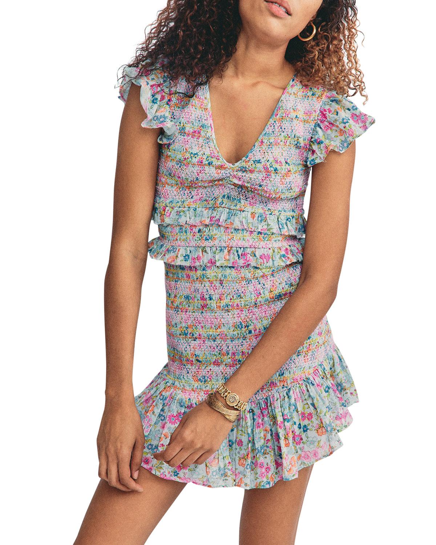 Sonora Floral-Print Ruffle Dress