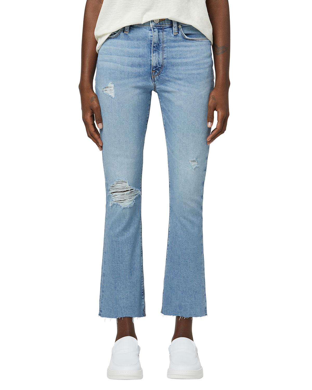 Barbara High-Rise Boot-Cut Cropped Jeans