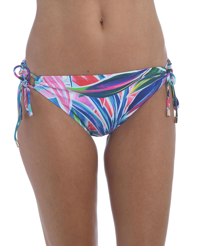 Palm Opulence Side-Tie Bikini Bottoms