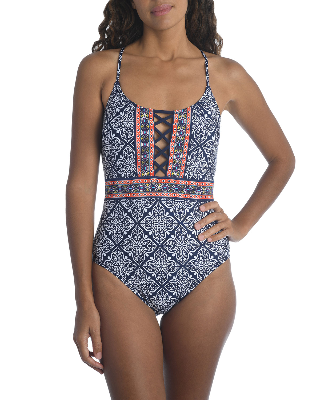 Mandala Dream Strappy One-Piece Swimsuit