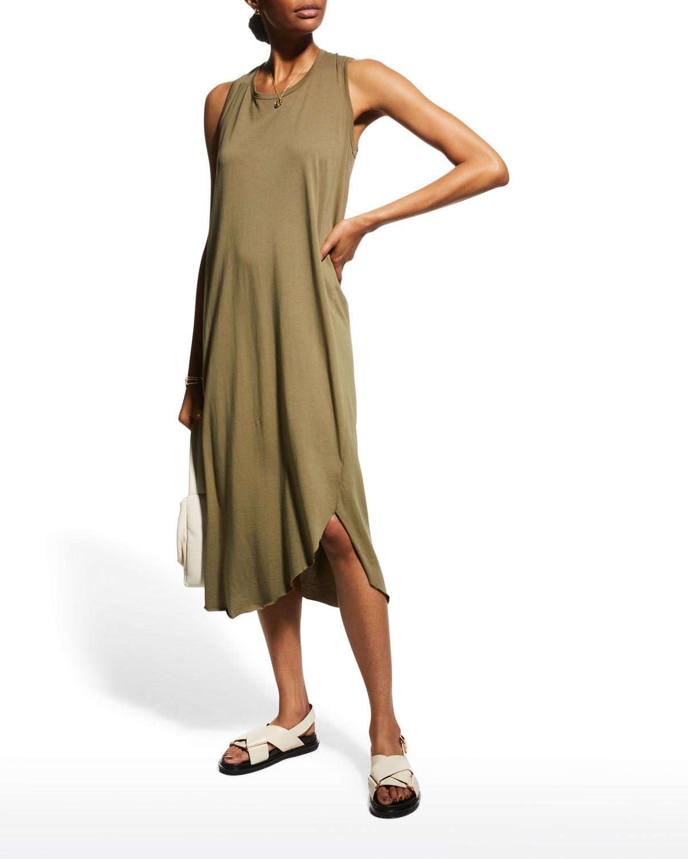Easy Side-Slit Tank Dress