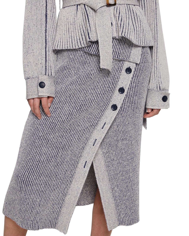 Micah Plaited Midi Skirt