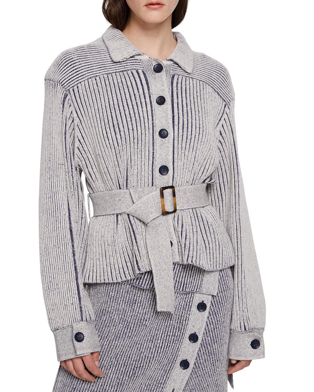 Gwendolyn Plaited Jacket with Belt
