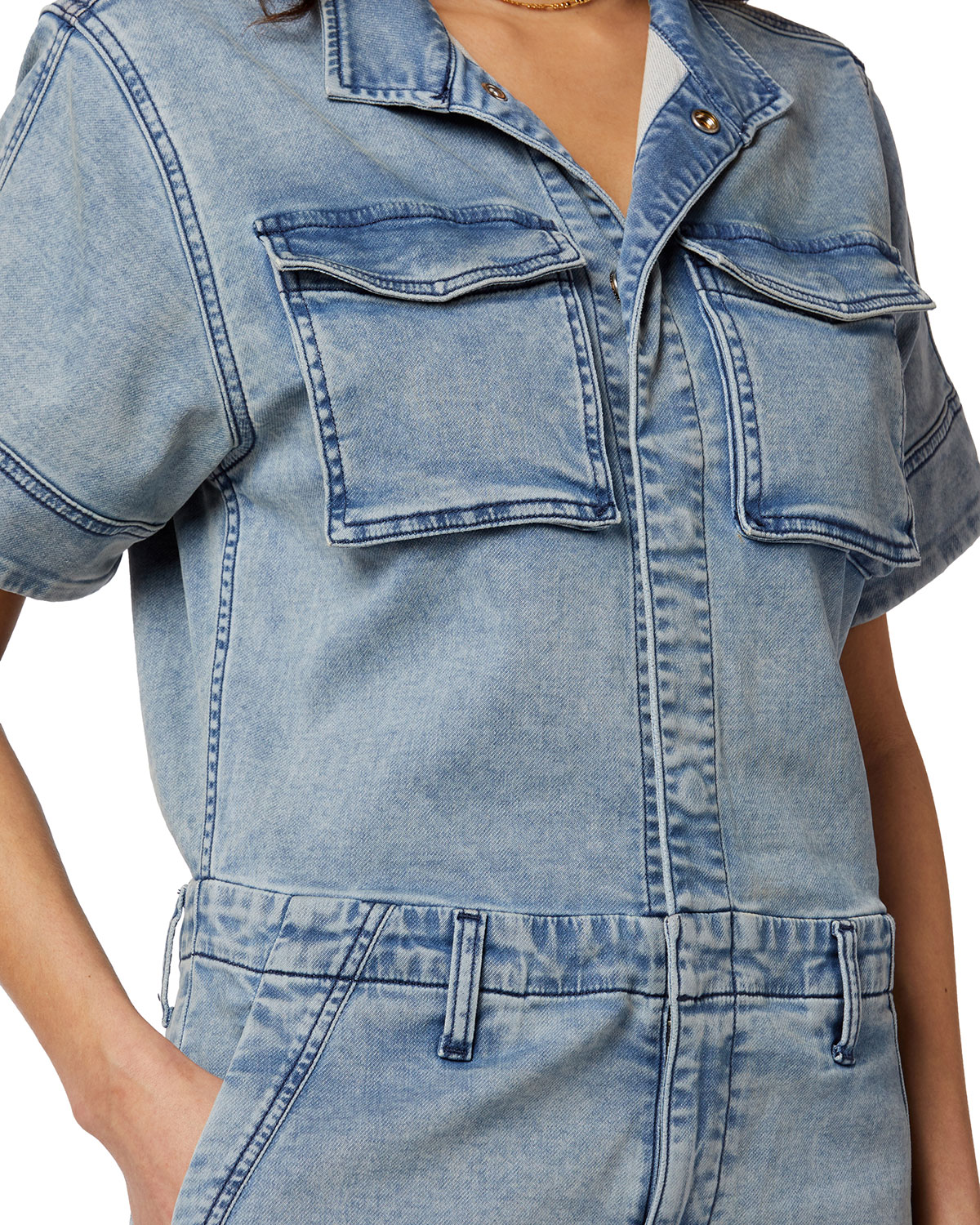 The French Terry Short-Sleeve Shortall