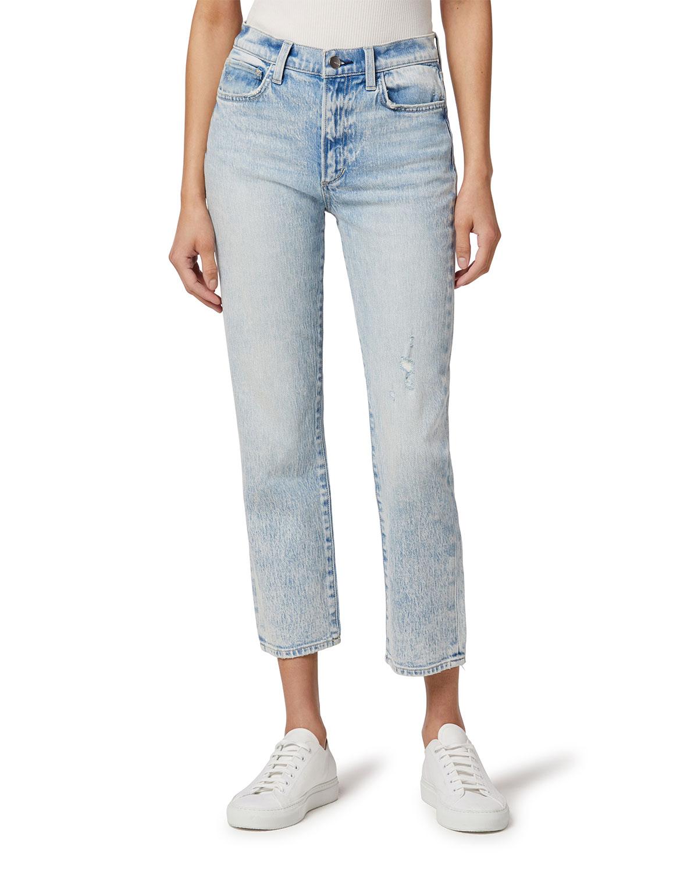 Luna Crop Straight-Leg Jeans