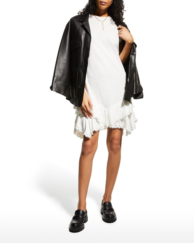 Jay Ruffle-Hem T-Shirt Dress
