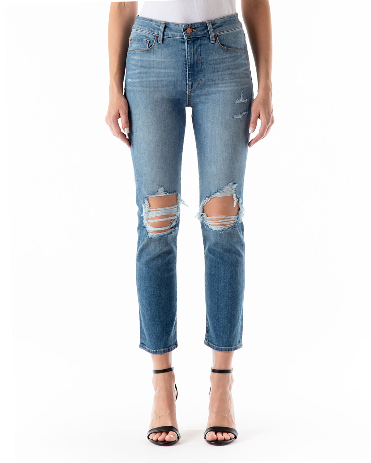 Cher High-Rise Distressed Jeans