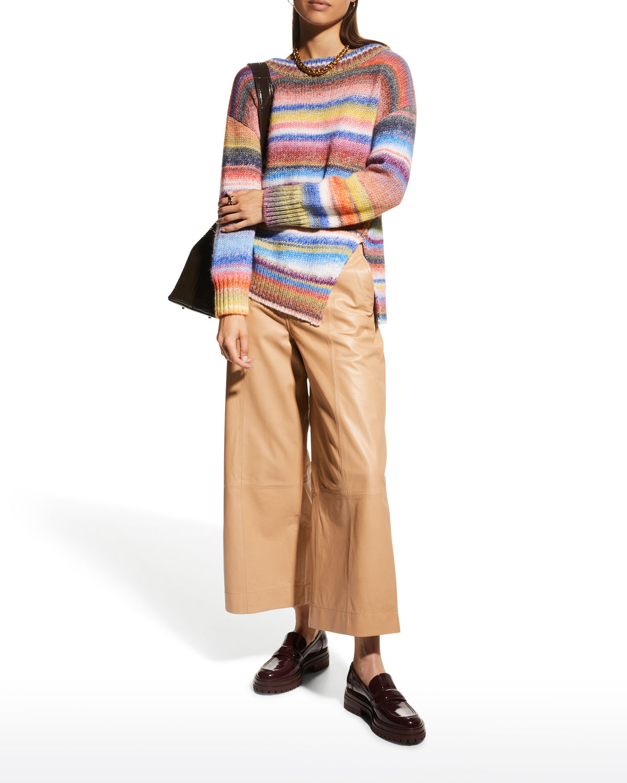 Laci Striped Wool-Blend Sweater