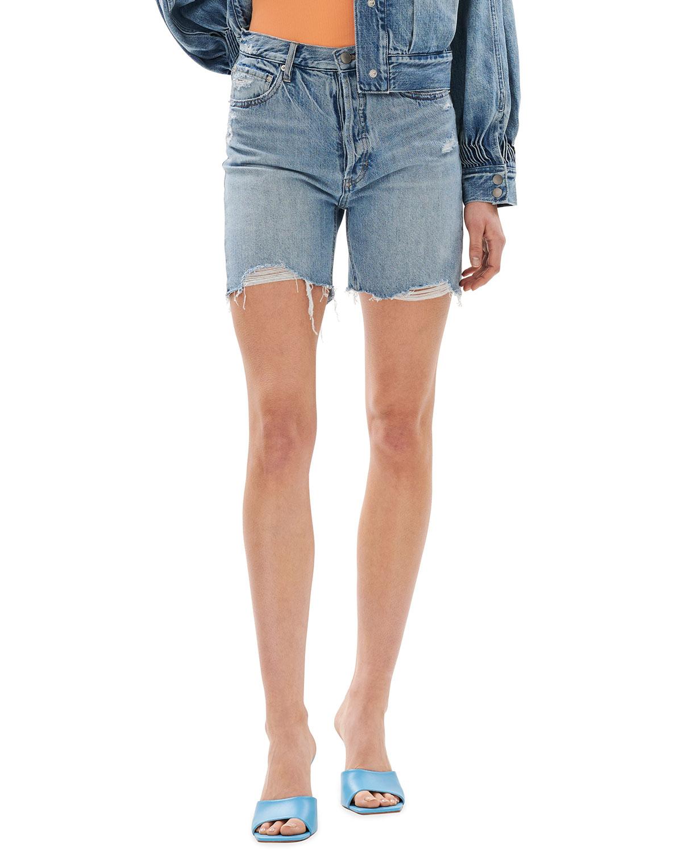 90s Button-Fly Denim Shorts