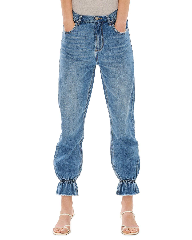 Noa Ruffle-Hem Jeans