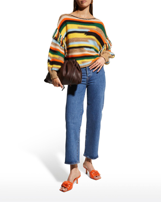 Claudette Fringe Pullover Sweater