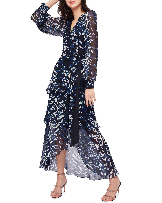 Silvia Surplice Maxi Chiffon Dress