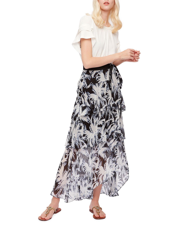 Raelynn Chiffon Tiered Maxi Skirt