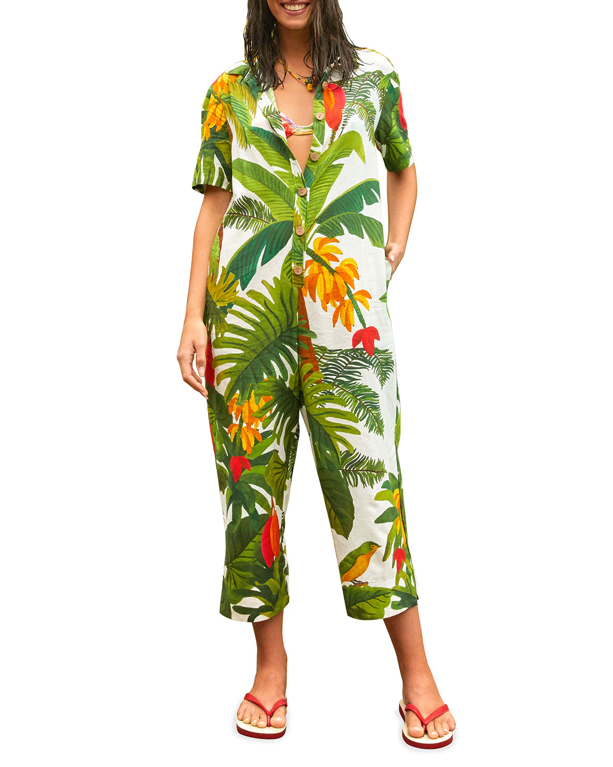 White Cocoa Forest Jumpsuit
