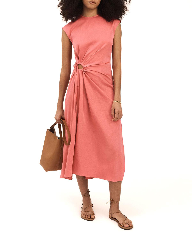 Alba Keyhole Midi Dress