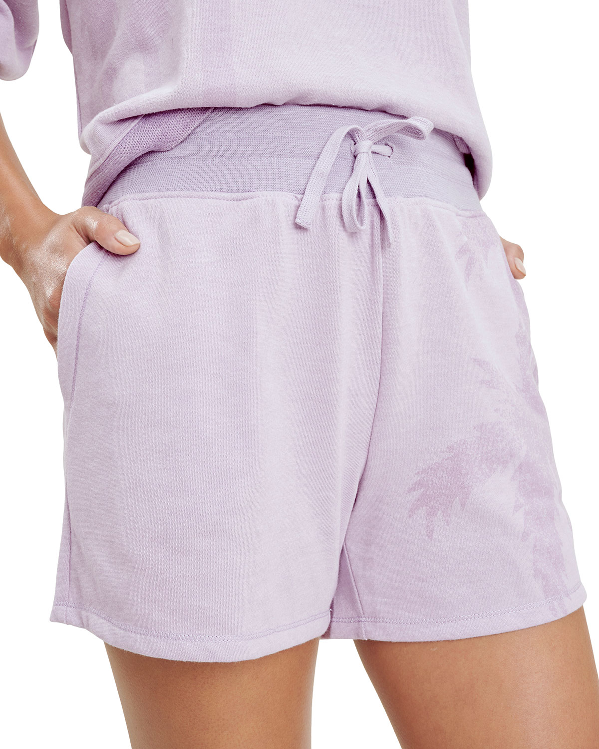 Shadow Palm Pull-On Shorts