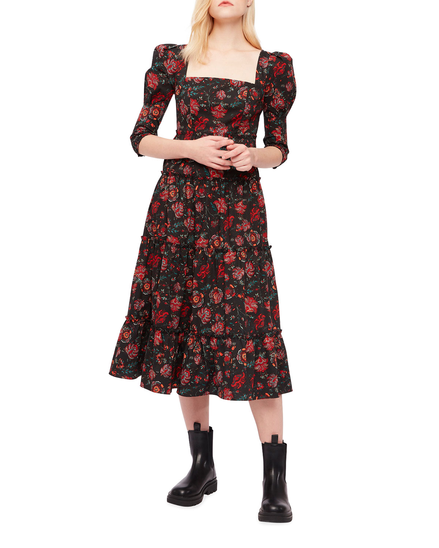 Nora Floral Midi Dress