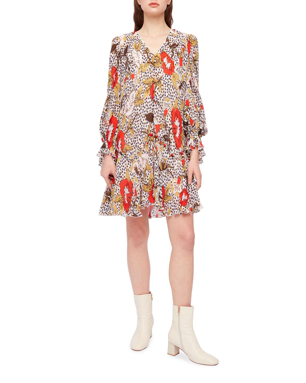 Kacie Short Leopard Floral Dress