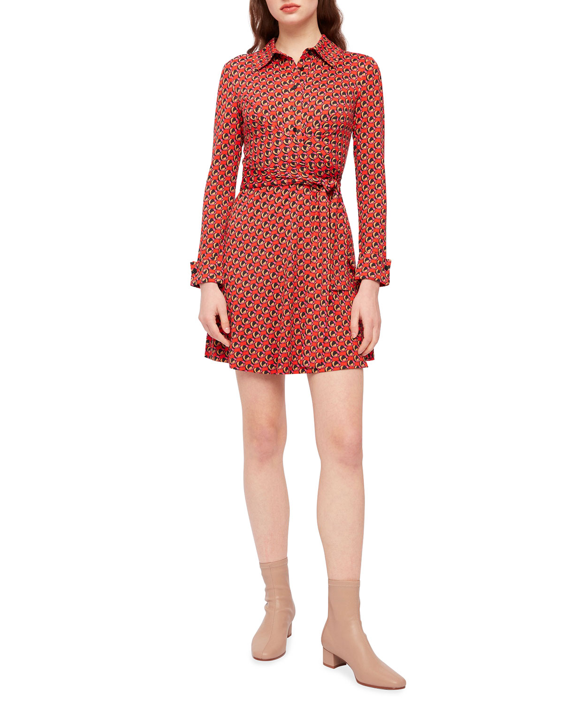Didi Long-Sleeve Wrap Dress