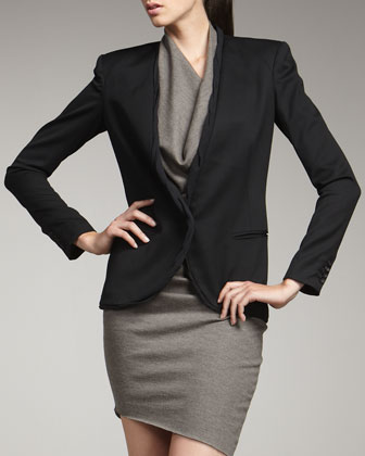Rolled-Trim Blazer