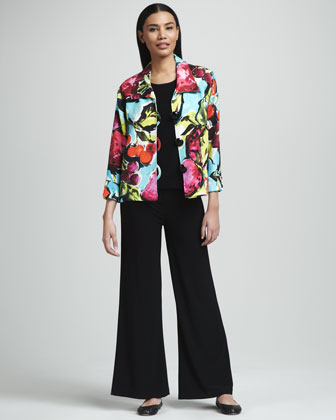 Fruit-Print Pique Jacket, Women's