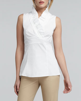Lorelai Ruffled Sleeveless Blouse