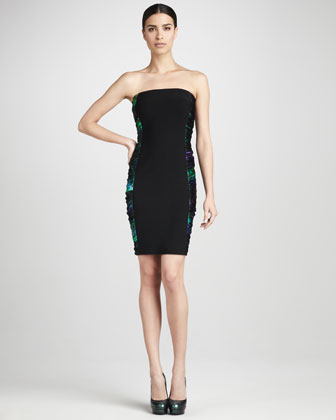 Contour-Panel Cocktail Dress