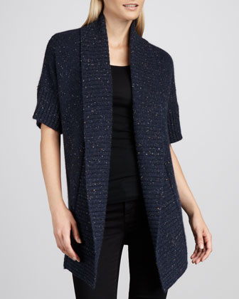 Donegal Shawl-Neck Cashmere Cardigan