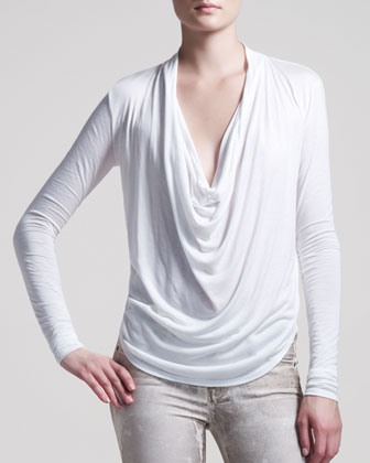 Kinetic Jersey Draped Top