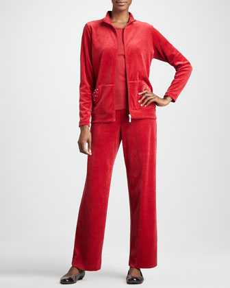 Velour Track Jacket, Women's